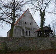 Będargowo-kościół miał kiedyś wieżę