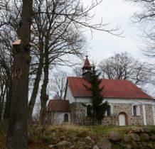 Bobolin- kościół z XVI odbudowany od wysokości okien