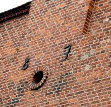 Dobra- data wybudowania szczytów schodkowych kościoła