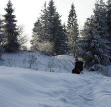 duzo śniegu na szlaku