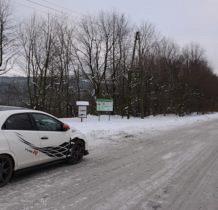 Rudawka Rymanowska-parkujemy przy drodze,tutaj śniegu nie brakuje
