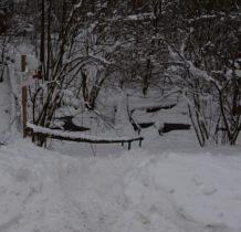 Wisłoczek- baza namiotowa w śniegu
