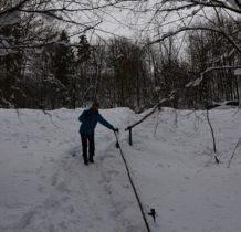 Wisłoczek- strome zejście do bazy