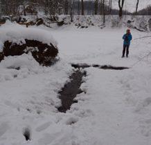Rudawka Rymanowska-na lodach rzeki