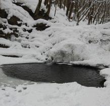 Wisłoczek-wodospad zamarzł