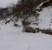 Rudawka Rymanowska-to co płynęło teraz zamieniło się w sople