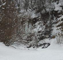Rudawka Rymanowska-w oddali pojawiaja się lodowe zbocza