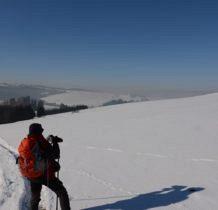 daleki biały szczyt to Babia Góra