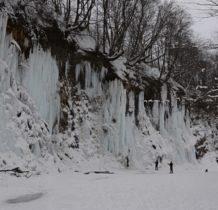 Rudawka Rymanowska-lodowe ściany