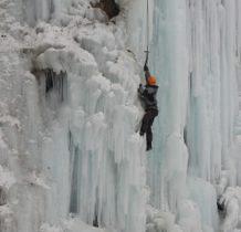 Rudawka Rymanowska-na lodowej ścianie