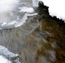 Rudawka Rymanowska-wypływa spod lodu