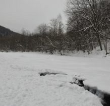 Rudawka Rymanowska-Wisłok pod śniegiem