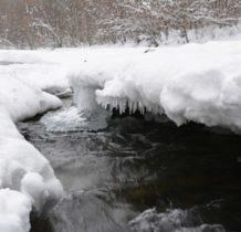 Rudawka Rymanowska- a Wisłok płynie pod lodem
