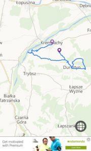 Pieniny Spiskie 2017 - mapa trasy