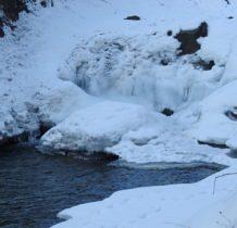 Szczawa-Spad -lodospad o tej porze roku