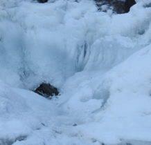 Szczawa-tylko miejscami lód nie spoił całości