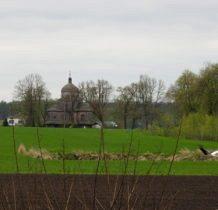 Korczmin-w oddali najstarsza cerkiew lubelszczyzny