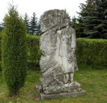 Machnówek-kamienny nagrobek ukraińskiej dziewczyny Olgi Krawczuk z 1931r z