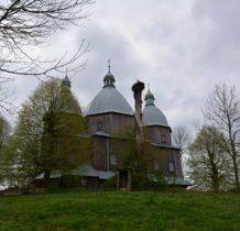 Dłużniów-cerkiew z bocianim gniazdem