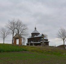 Myców-cerkiew z pozostałościami cmentarza,bramy cmentarnej i obeliskiem