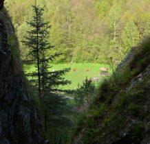 widok na dolinę z wysokości kaplicy