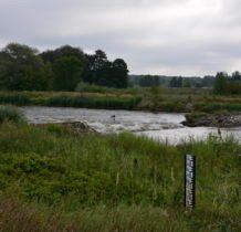 Łyszkowice- słupek do odczytywania poziomu wody
