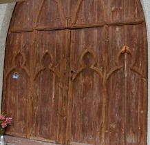 Siedlatków- drzwi wejściowe  kaplicy z XIX wieku
