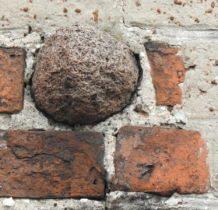 Szadek- kula armatnia w murze