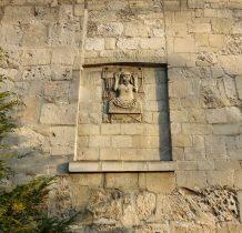 Imielno- ściana kaplicy z romańska płaskorzeźba