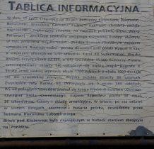 Kliszów- tablica informacyjna obok pamiatkowego głazu