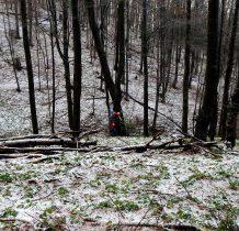 na szlaku pojawia się coraz więcej śniegu