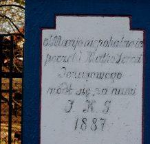 Motkowice- pamiatkowy napis na kamieniu podstawy