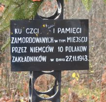 Motkowice- miejsce egzekucji Polaków w 1943r