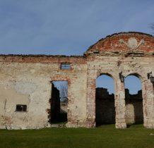 Sobków- ruina willi z kartuszem