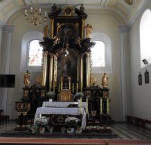 Sobków- ołtarz barokowy z 2 połowy XVII wieku
