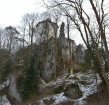położenie zamku na skale świadczy o jego obronnym charakterze