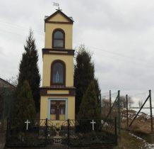 Miedzno-kapliczka murowana w kształcie słupa z XIX wieku