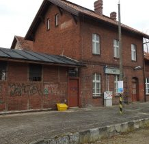 Tleń-zabytkowy dworzec kolejowy z poczatku XX wieku