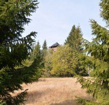 wieżę na Magurce zostawiamy po lewej(kiepska dziś widoczność)