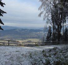 niebieskim szlakiem rowerowym docieramy na Łopień Wschodni
