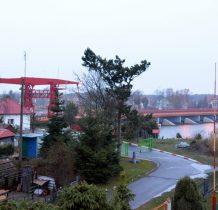 Dziwnów-widok na most zwodzony z okien Willi Major gdzie śpimy