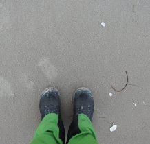 Dziwnów-ślady na piasku...