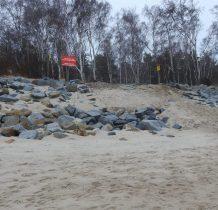 Dziwnów-dochodzimy do miejsca gdzie szlak czerwony styka się z plaża