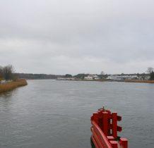 Dziwnów-Cieśnina Dziwna-widok z mostu zwodzonego