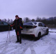 Czartak-auto zastawiamy na parkingu-przy drodze Wadowice-Sucha Beskidzka