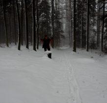 przed nami ktoś szedł na nartach
