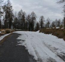 droga częściowo zasypana