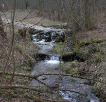 Konradowski Potok tworzy w tym miejscu wiele małych spadów