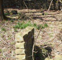 wewnatrz murów -pozostałości cmentarza
