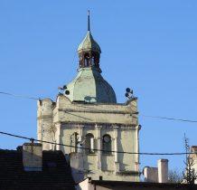 wieża kościoła ewangelickiego